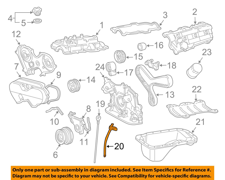 Toyota Oem 95 04 Tacoma 34l V6 Engine Guide Tube 1145262050 Ebay Diagram Picture 1 Of 2