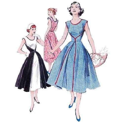 Butterick Sewing Pattern B4790 FF Retro Misses\' Wrap Dress 1952 ...