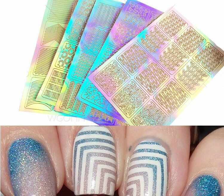 3sheet Nail Art Transfer Stickers Decal 3d Design Manicure Tips ...