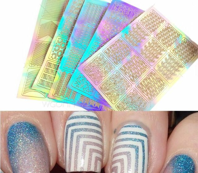 Gut 3 Sheet Nail Art Transfer Stickers 3d Design Manicure Tips Decal ...