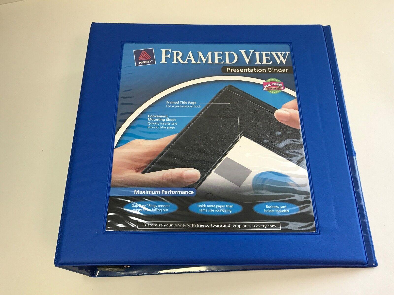 avery dennison 68034 framed view binder   ebay, Presentation templates