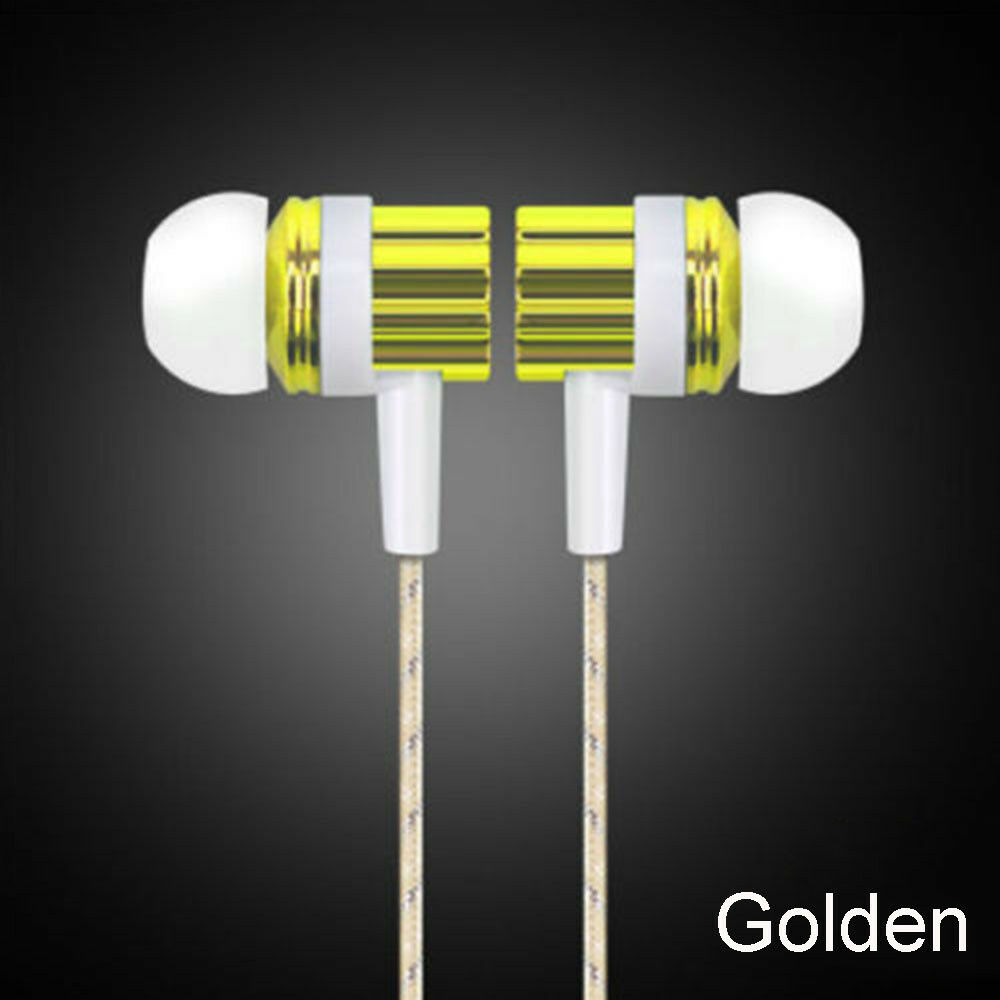 Common 3.5mm Mic Wired Headset In-ear Stereo Earbud Headphone ...