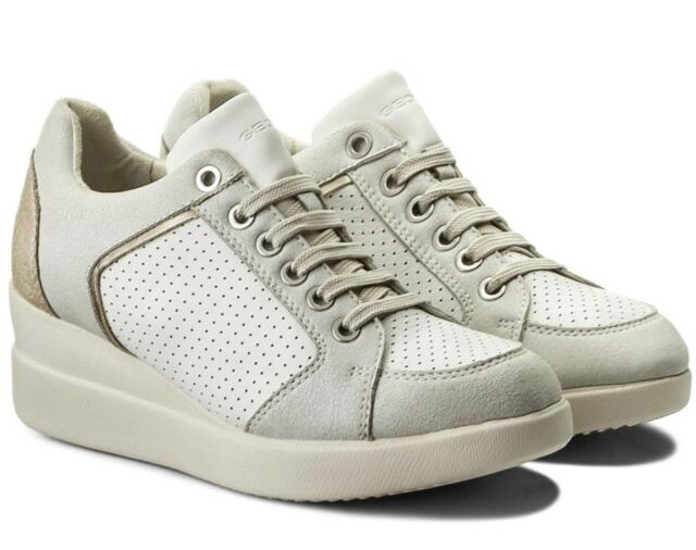 free shipping 929be 0978e GEOX STARDUST D8230B scarpe donna sneakers pelle camoscio tessuto casual  zeppa - mainstreetblytheville.org