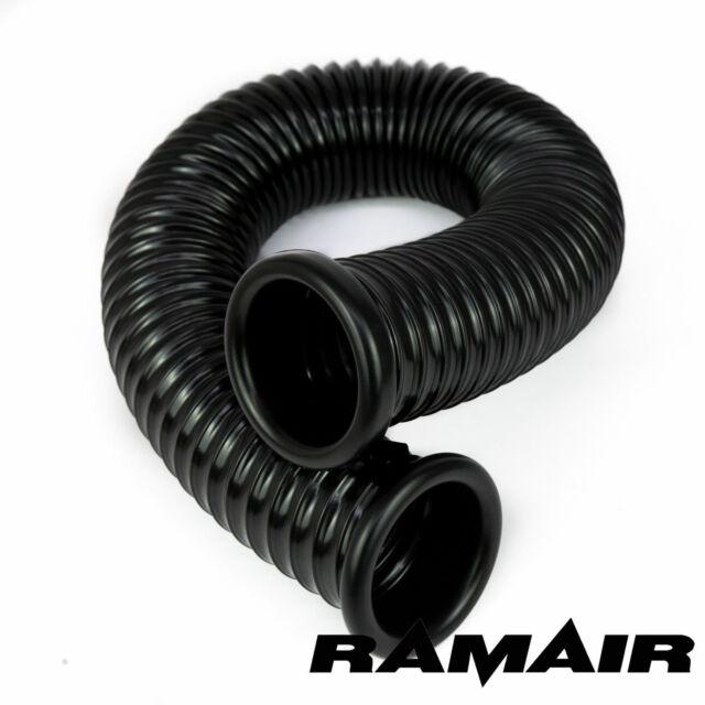 Ramair kalt Lufteinlass Führung für offen Set 80mm ID x 500mm with Kappen