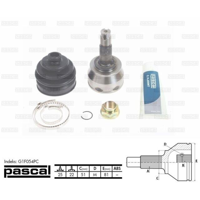Gelenksatz, Antriebswelle PASCAL G1F054PC