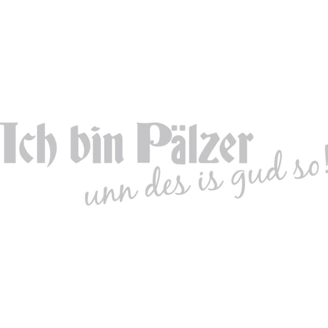 Car Application Stickers Decor 13 x 4 cm Pfalz Ich bin Paelzer Ap1736 silver