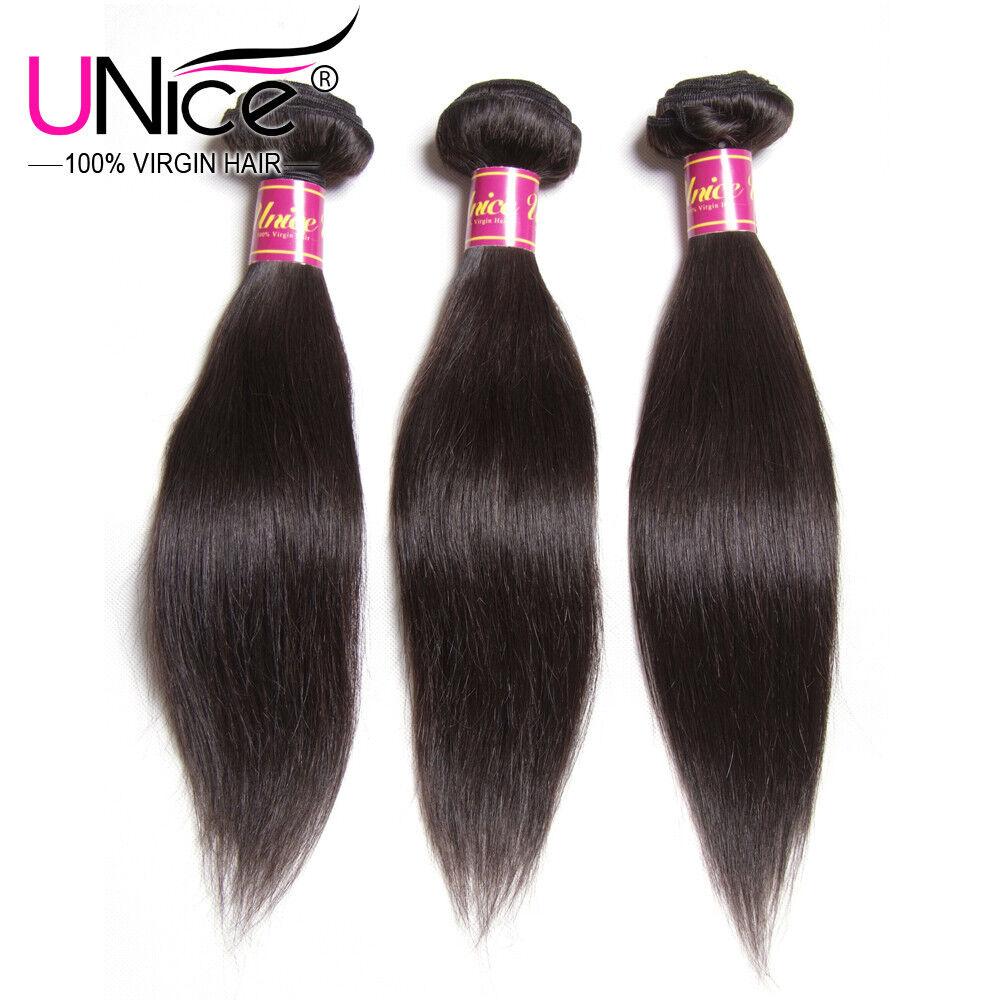 Unice 3 Bundles 8a Malaysian Straight Virgin Hair 300g 10 Human