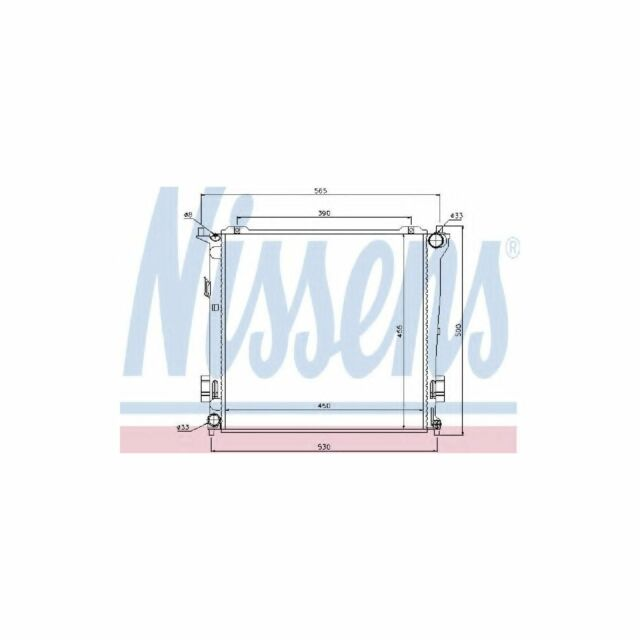 Genuine Nissens Engine Cooling Radiator - 67077