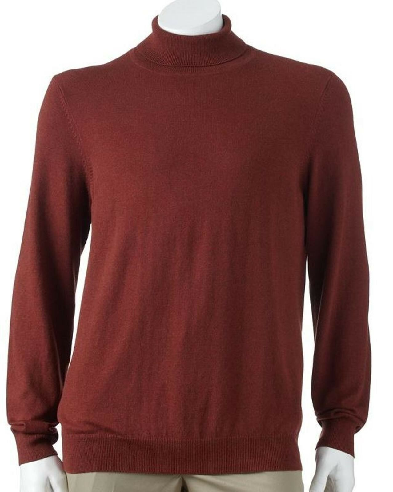 Croft & Barrow Mens Big & Tall 2xb Solid Lightweight Turtleneck ...