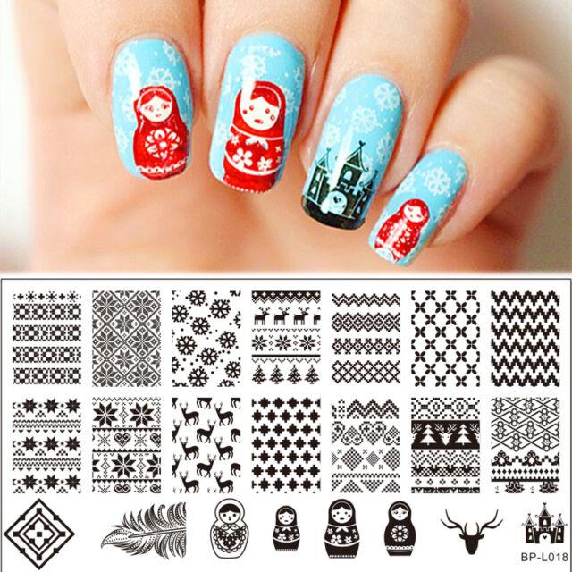 Born Pretty Nail Art Stamping Plate Russian Doll Pattern Image ...