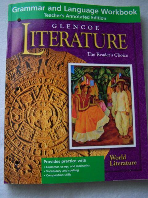 Glencoe world literature grammar and language workbook teachers glencoe world literature grammar and language workbook teachers edition fandeluxe Choice Image