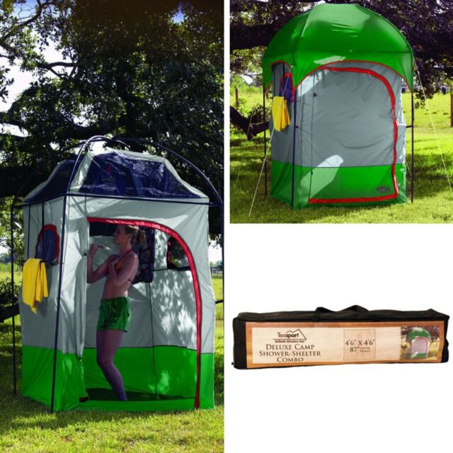 C&ing Shower Shelter Portable Toilet Tent Outdoor Changing Room Heavy Duty New & Camping Shower Shelter Portable Toilet Tent Outdoor Changing Room ...