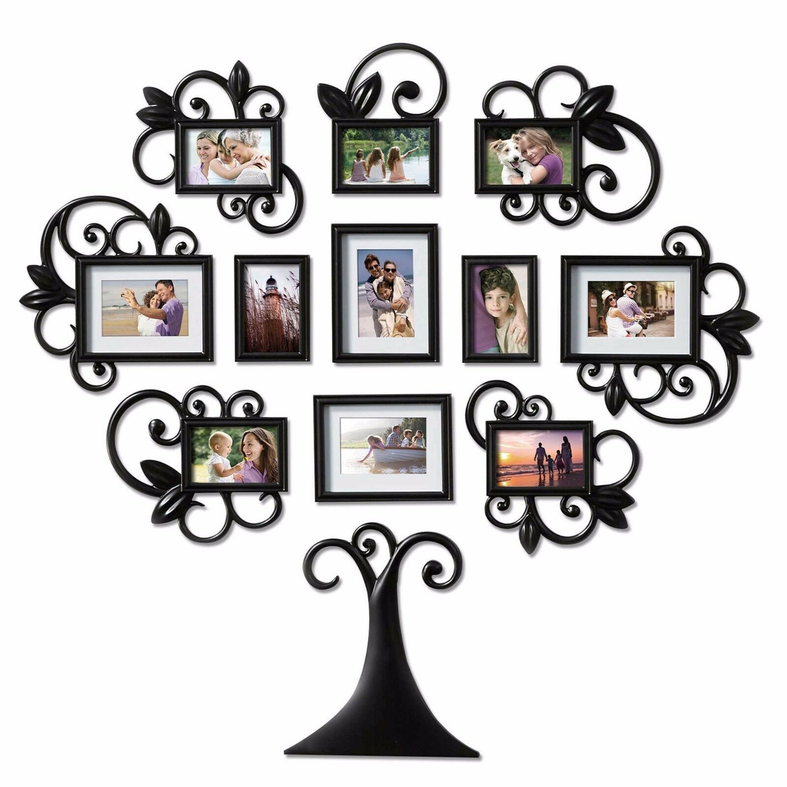 12 piece family tree photo picture frame collage set black wall 12 piece family tree photo picture frame collage set black wall art home decor jeuxipadfo Choice Image