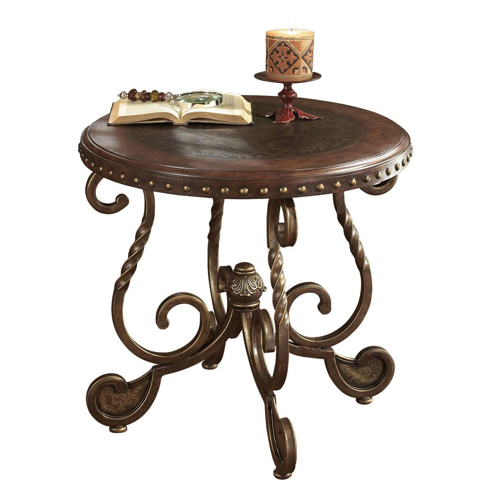Signature design by ashley rafferty round end table ebay picture 1 of 2 geotapseo Images