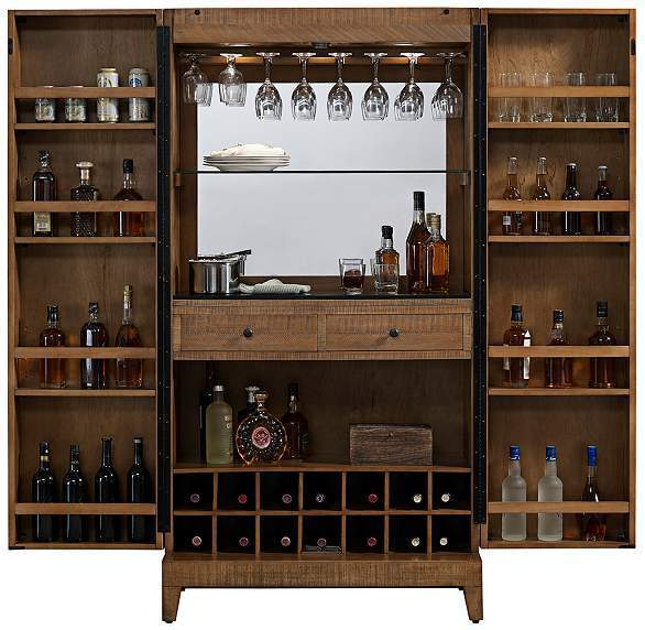 Braxton Wine Cabinet Home Bar Reclaimed Wood By American Heritage | EBay