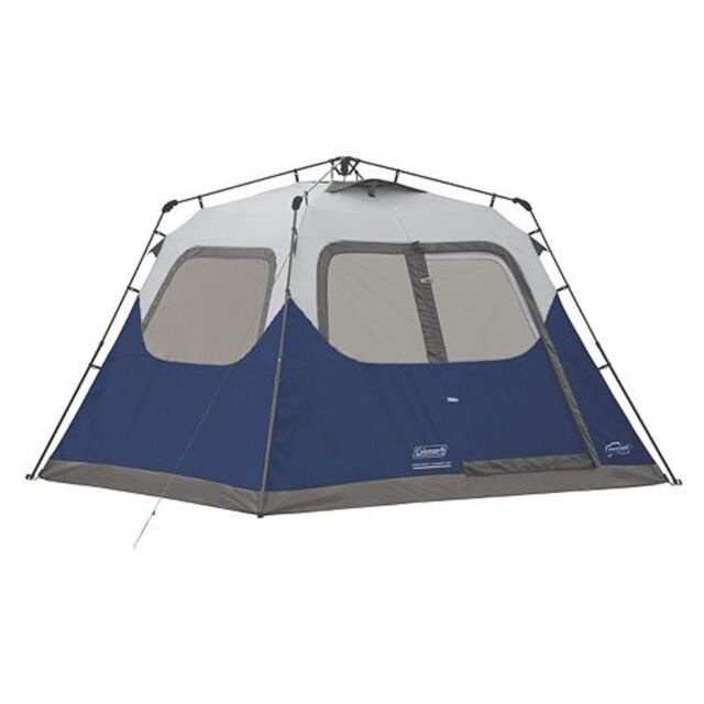 Coleman 6-Person 10u0027 x 9u0027 Instant Cabin Family C&ing Tent w/  sc 1 st  eBay & Coleman 6 Person Instant Cabin Tent Family Camping Outdoor Kit ...