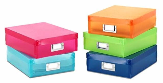 Merveilleux Storage Organize Box Container Plastic Case 5 Color Set Office Document  Tool New
