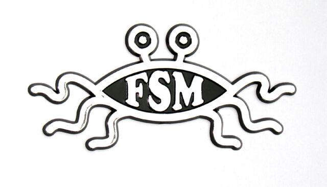 Fsm Flying Spaghetti Monster Pastafarian Car Badge Ebay