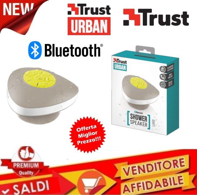 Altoparlante Bluetooth Impermeabile, Bianco Trust Urban Lago WIRELESS DOCCIA