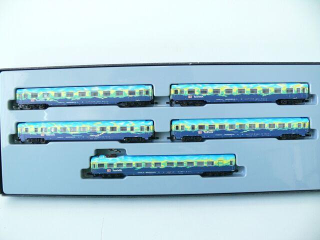 """Märklin Z - 87300 Personenwagen-Set  """"Touristikzug"""" der DB AG - Neu & OVP"""