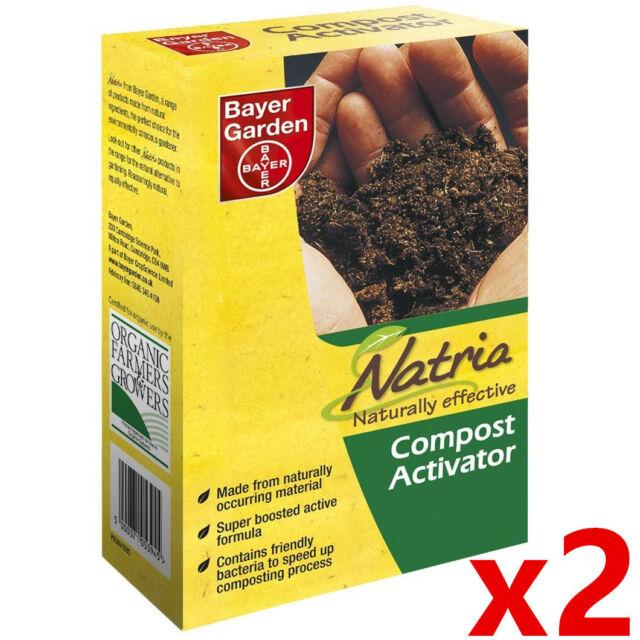 2 X Bayer Garden Organic Natural Fertilizer Accelerator Compost Activator  3945