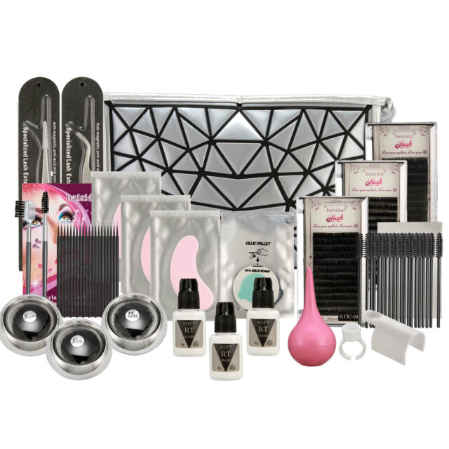 Professional Extension False Eyelash Glue Brush Full Kit Set Bog