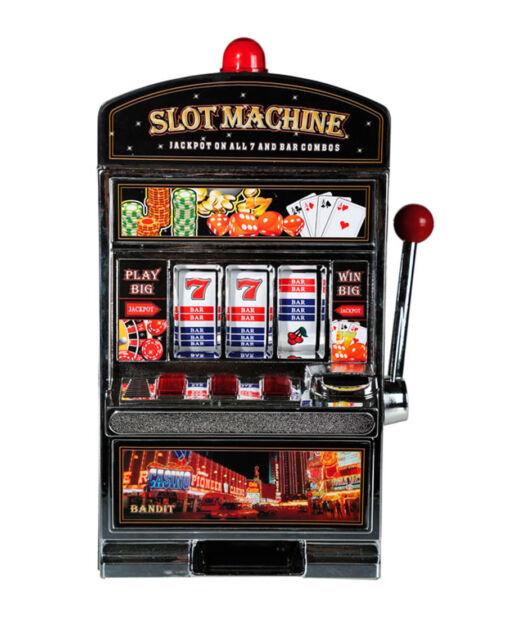Spardose Spielautomat Slot Machine Licht und Sound Sparbüchse Sparschwein Deko