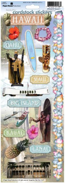 Paper House Hawaii Travel Vacation Cardstock Scrapbook Stickers Ebay