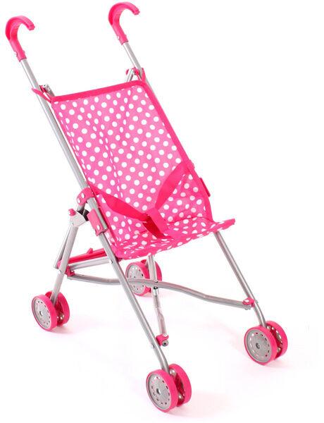 Bayer Chic 2000 Puppenbuggy Pünktchen dots pink weiß Buggy Puppenwagen Kinder