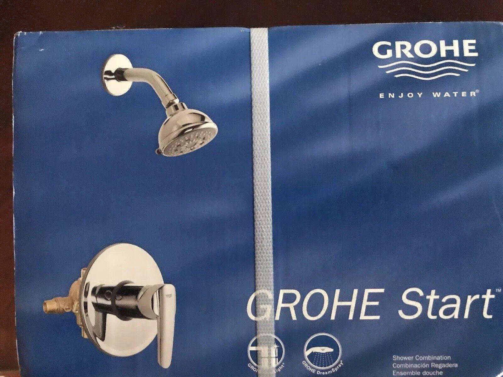 GROHE Start Star Light Chrome 1 Handle Shower Showerhead 19914000 | eBay