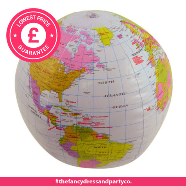 inflatable globe 40cm 16 altas world map beach ball geography lesson blow