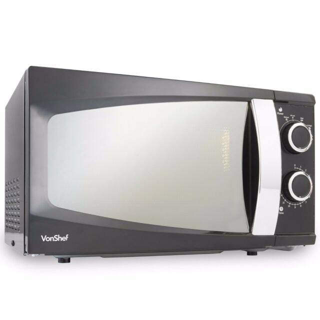 Vonshef 17 Litre Microwave Oven 6 Levels Easy To Operate 700w Black Solo