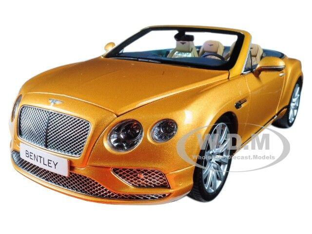 2016 Bentley CONTINENTAL GT Convertible Sunburst Gold 1/18 by ...