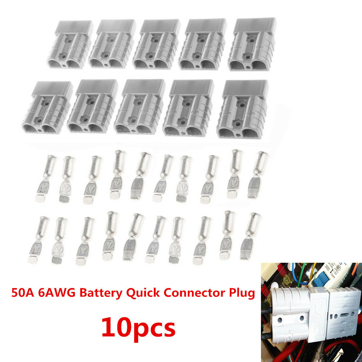 s l1600 battery quick connect 10pcs kit 50a wire harness plug disconnect battery quick connect wire harness plug at couponss.co