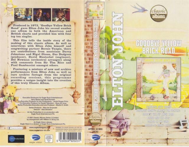 ELTON JOHN GOODBYE YELLOW BRICK ROAD MINT SEALED VHS PAL VIDEO~A RARE FIND