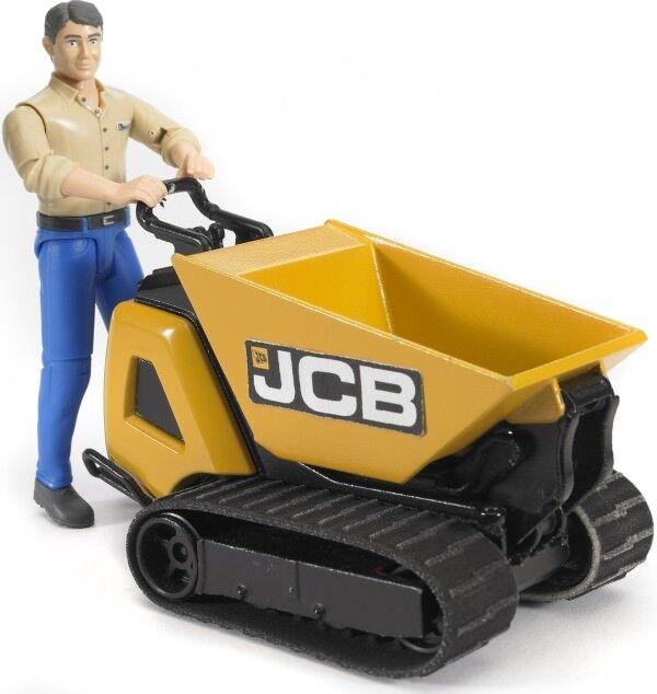 Bruder 62004 JCB Dumpster HTD-5 und Bauarbeiter
