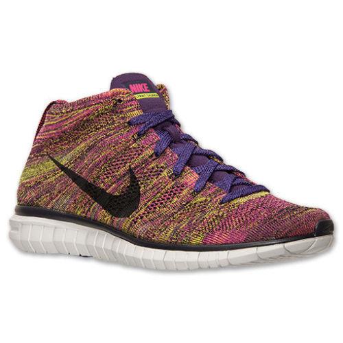 Nike Flyknit Chukka Running Shoes Mens 11 Grand Purple Fireberry 639700 501  | eBay
