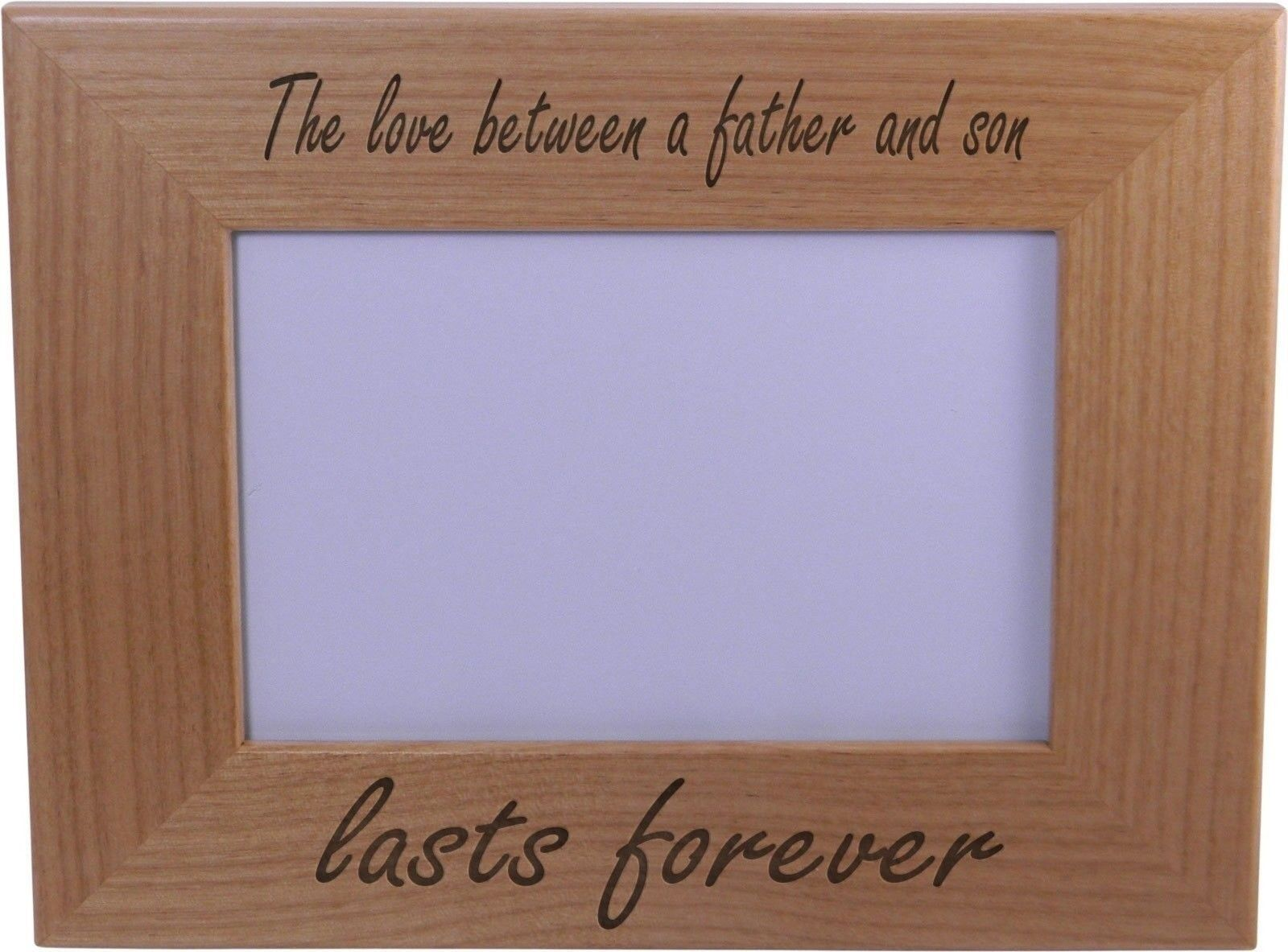 The Love Between a Father and Son Lasts Forever 4x6 Inch Wood ...