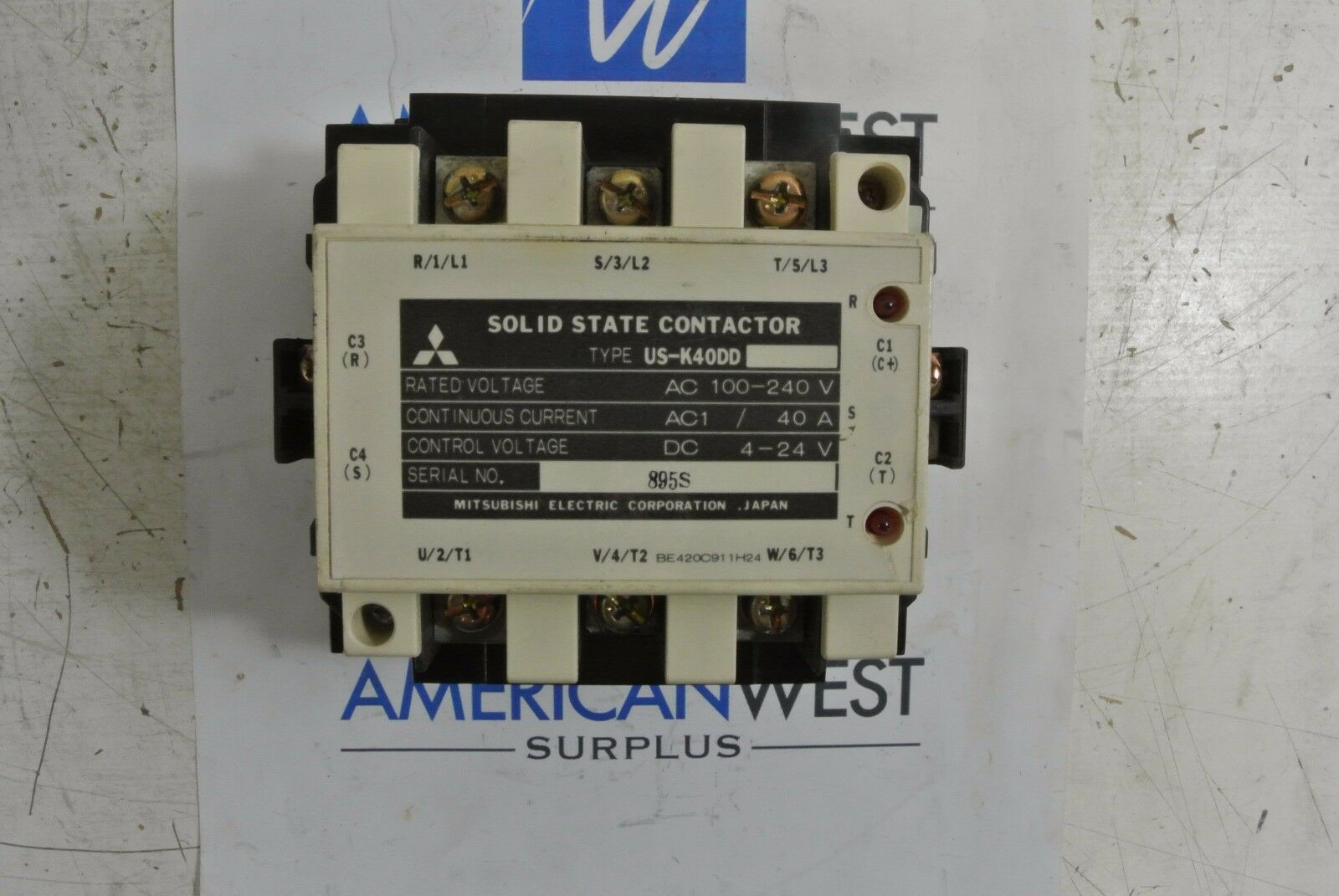 Mitsubishi Electric Corp Solid State Contactor Us-k40dd 100-240v 40a ...