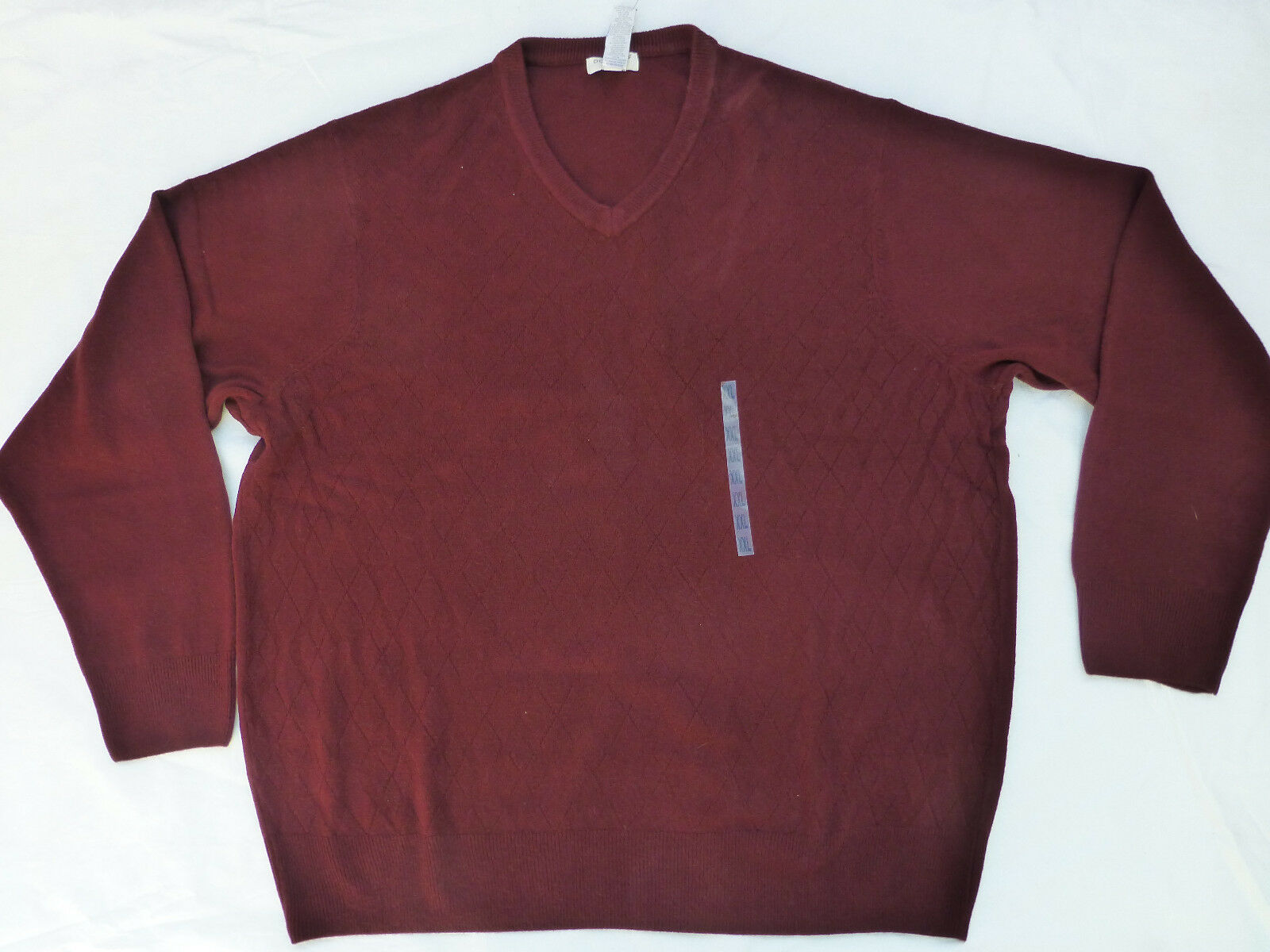 Mens Sweater Size XL Dockers Burgundy Red V Neck Lightweight ...
