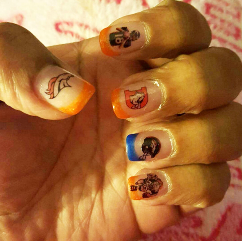 Denver Broncos Nail Art Stickers Transfers Decals Set of 46   eBay