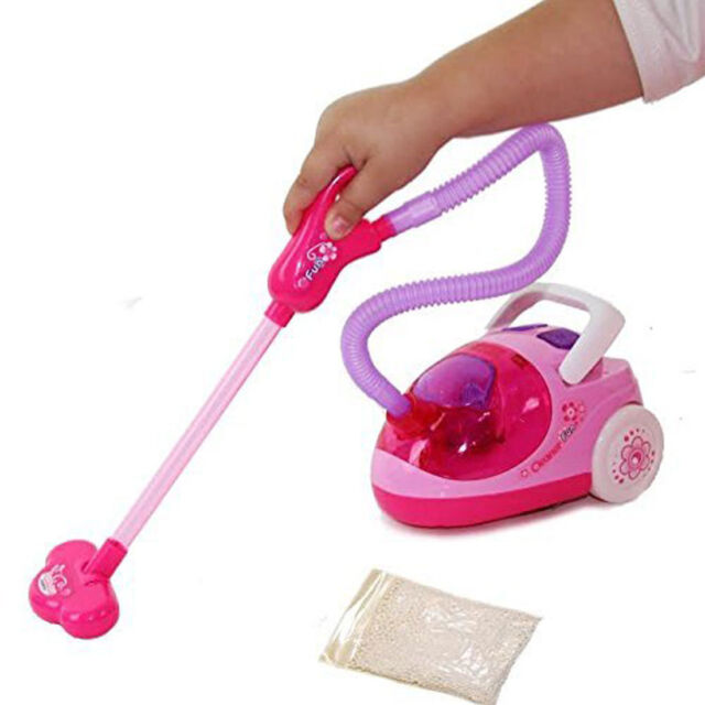 Kids Battery Operated Vacuum Cleaner Toy Set Role Play Real Suction Cleaning