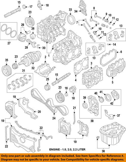 2003 subaru impreza wrx cylinder heads 2 0l turbo head ej205 left rh ebay com Subaru 2.2L Engine EJ255 Engine