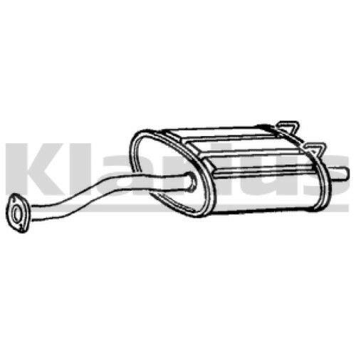 1x KLARIUS OE Quality Replacement Rear / End Silencer Exhaust For HONDA Petrol