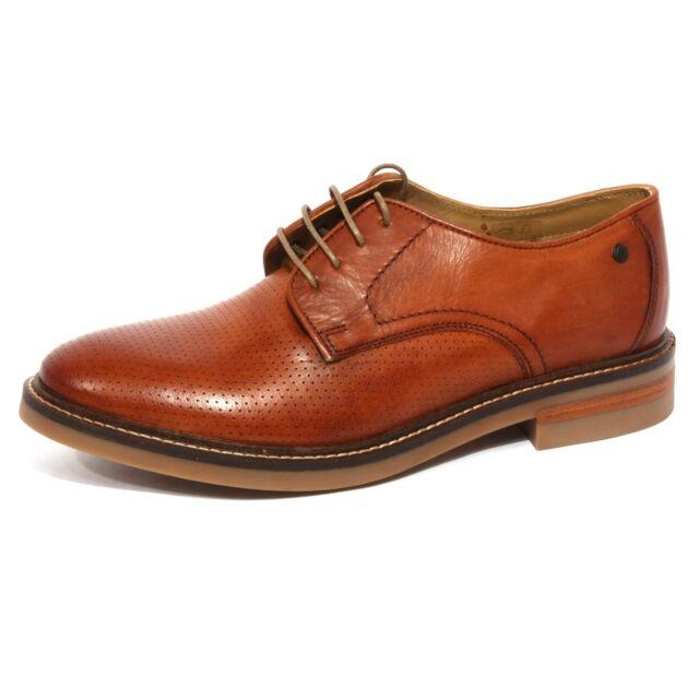 Base London Mens Standford Burgundy Leather Shoes 41 EU uemWIw