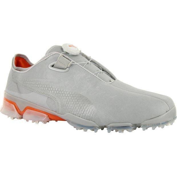 PUMA Golf Men's TT Ignite Premium Disc Golf Shoe, Gray Violet/Vibrant Orange, 9 M US