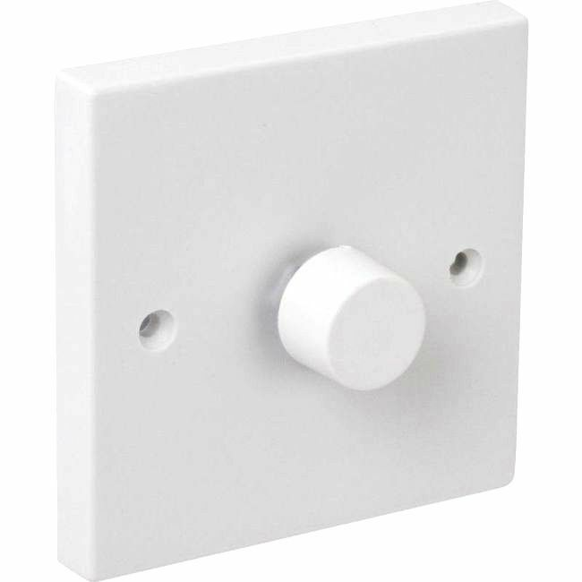 Branded Dimmer Single Light Switch for Dimmable Lighting White Max ...