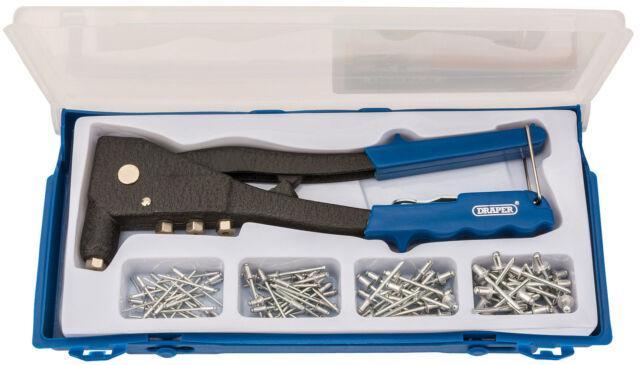 Draper 27843 Hand Rivet Gun Kit with Rivets Aluminium Riveter