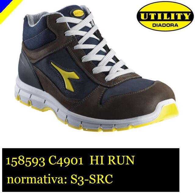 Diadora Run High S3 Scarpe da Lavoro Unisex Adulto Marrone Marrone w9l