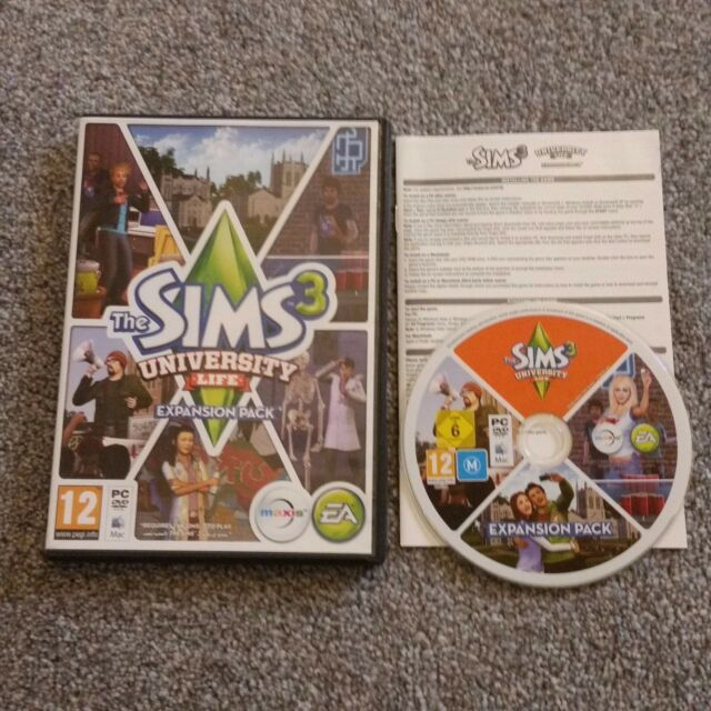 The Sims 3 University Life Expansion Pack for PC DVD Rom / MAC